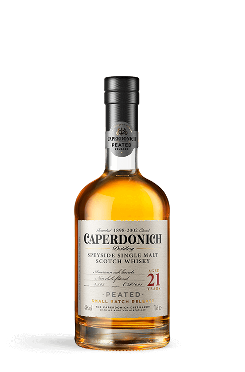 Bottle of caperdonich peated 21 years