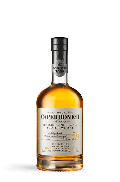 caperdonich 25 years peated bottle