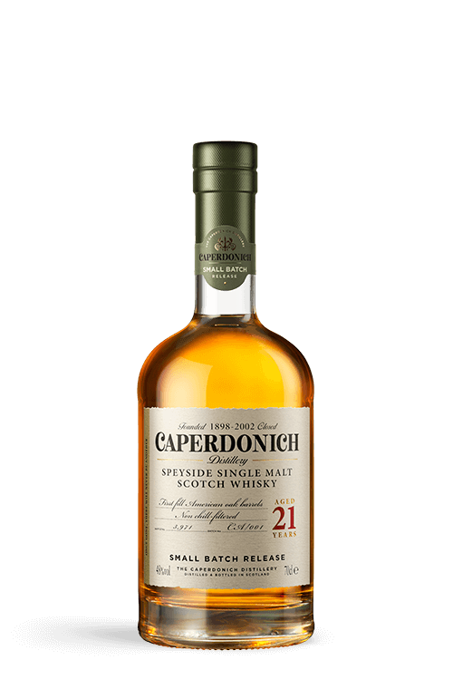 caperdonich 21 years unpeated bottle
