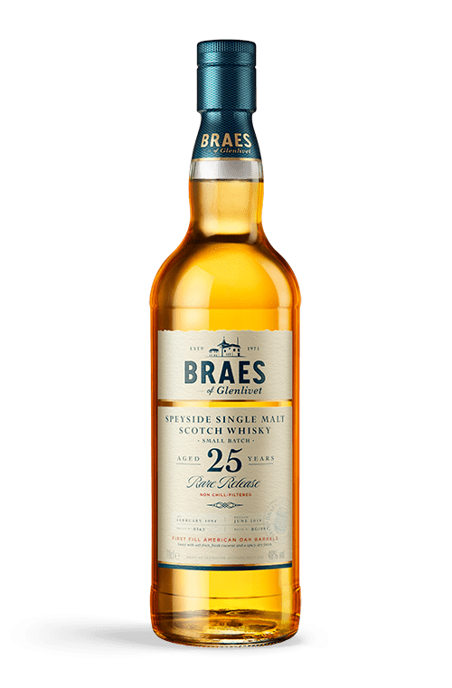 Bottle of braes aged 25 years